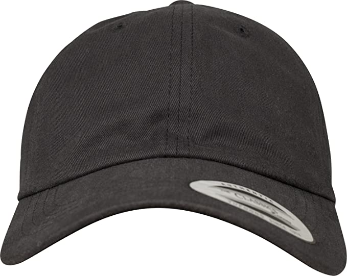 1a420b5a589 Flexfit Peached Cotton Twill Dad Cap - Black - One Size at Amazon ...