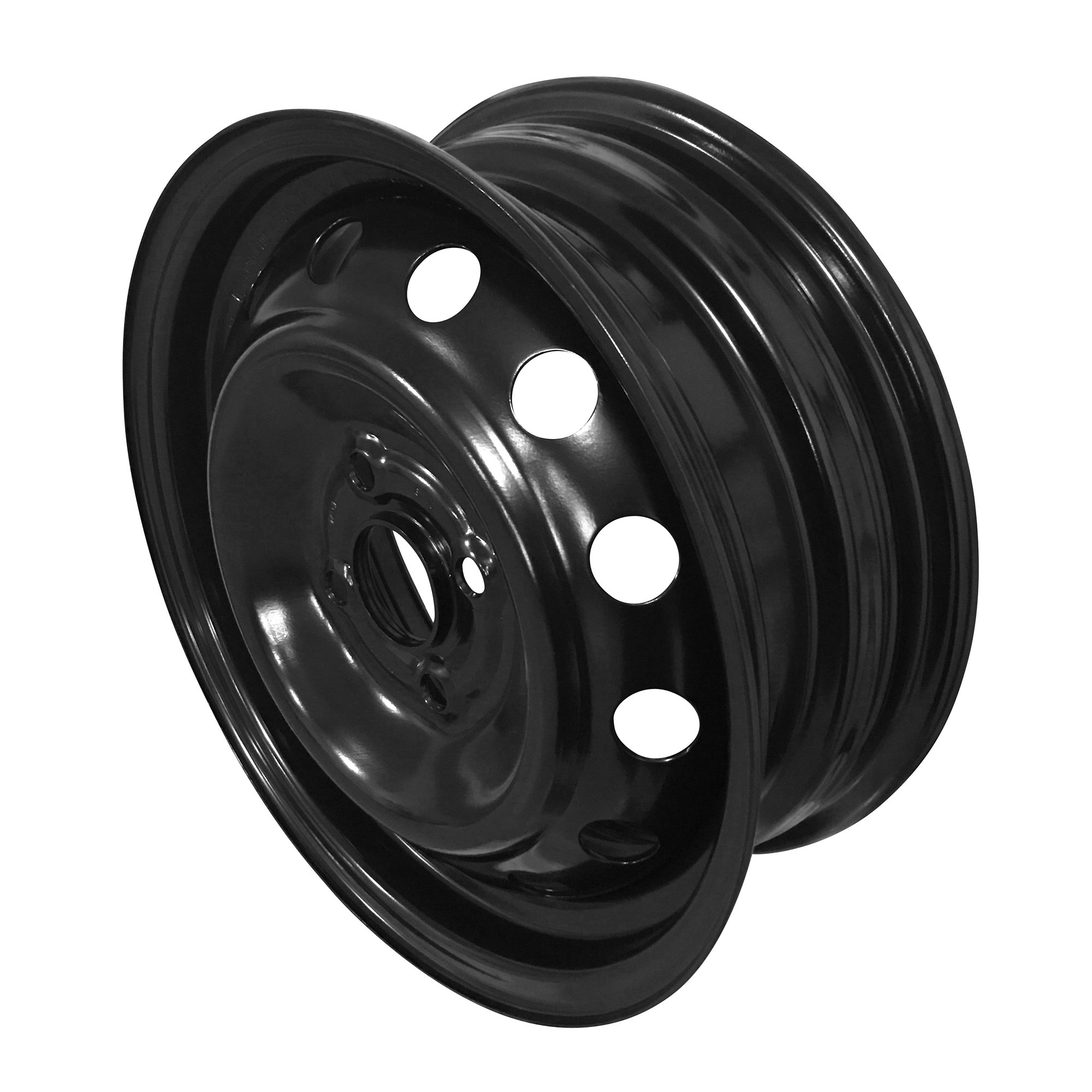 New 14x5 Inch 4 Lug 06-12 Toyota Yaris Full-Size Black Steel Replacement Wheel Rim by Road Ready Wheels (Image #1)