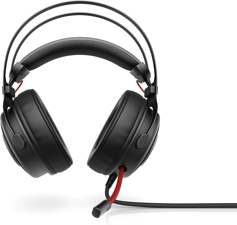 HP Omen 800 - Auriculares para gaming con micrófono (PC/juegos, binaurale, diadema, alámbrico, circumaural), color negro y rojo: Hp: Amazon.es: Informática