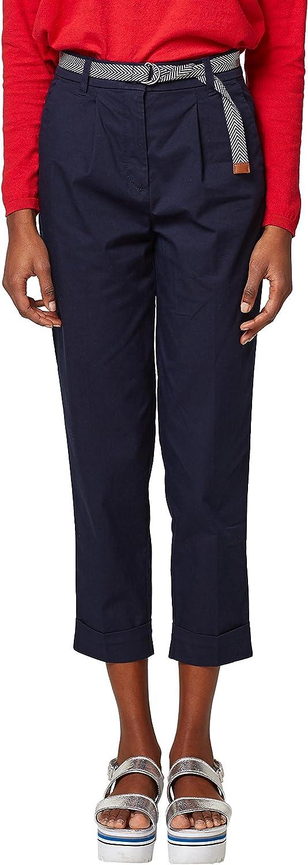 Esprit 038ee1b005 Pantalones, Azul (Navy 400), 40 (Talla del Fabricante: 38) para Mujer
