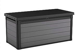 Keter 240303 Premier 150 Gallon Deck Box, Grey
