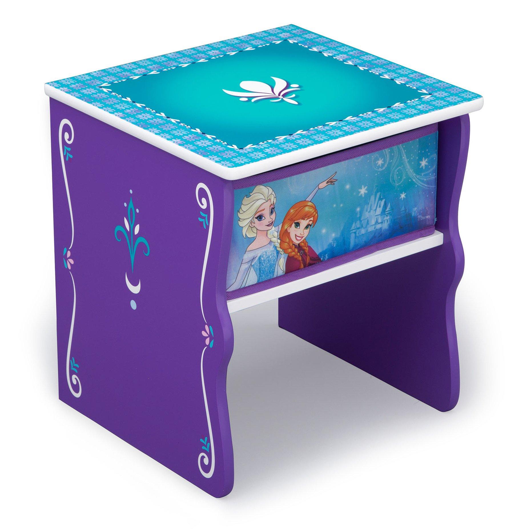 Delta Children Side Table with Storage, Disney Frozen