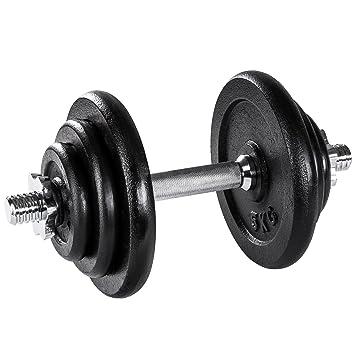 TecTake Mancuerna con pesas halteras de fitnes acero hierro musculación gimnasio - varios modelos - (20kg | no. 402365): Amazon.es: Deportes y aire libre