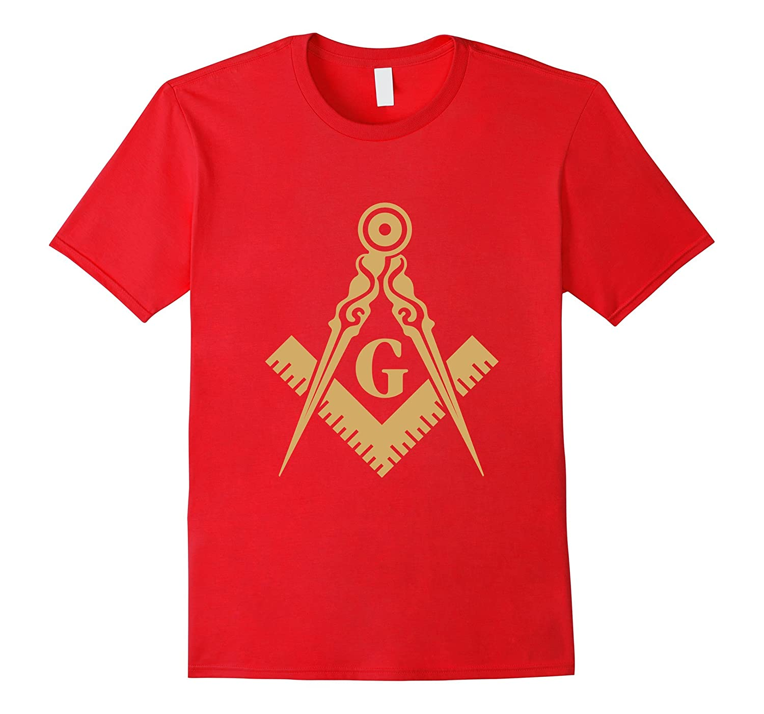 Freemasonry shirt Masonic Square and Compass symbols tshirts-BN