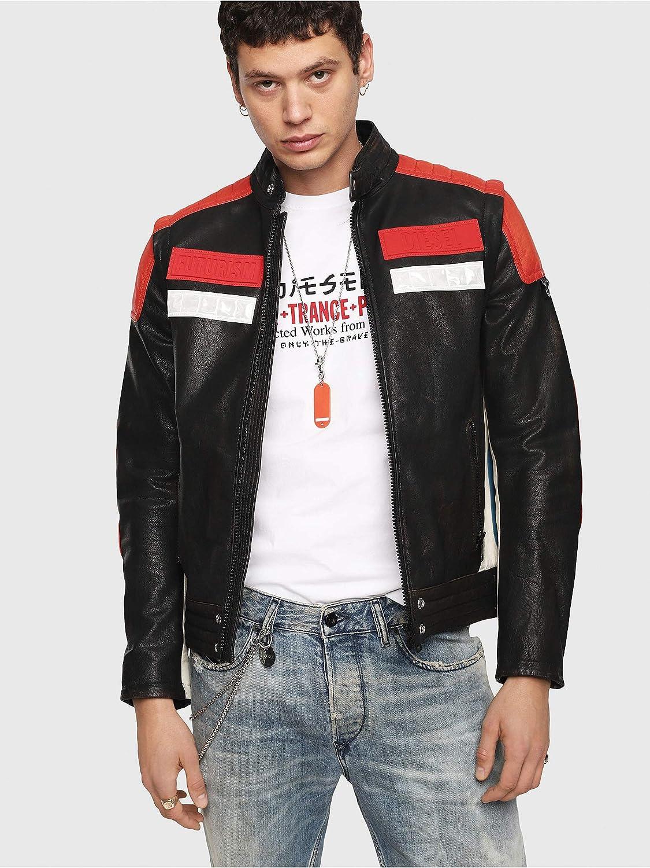 Diesel L-yuja Jacket Chaqueta, Rojo (Racing Red 42a), Large para Hombre