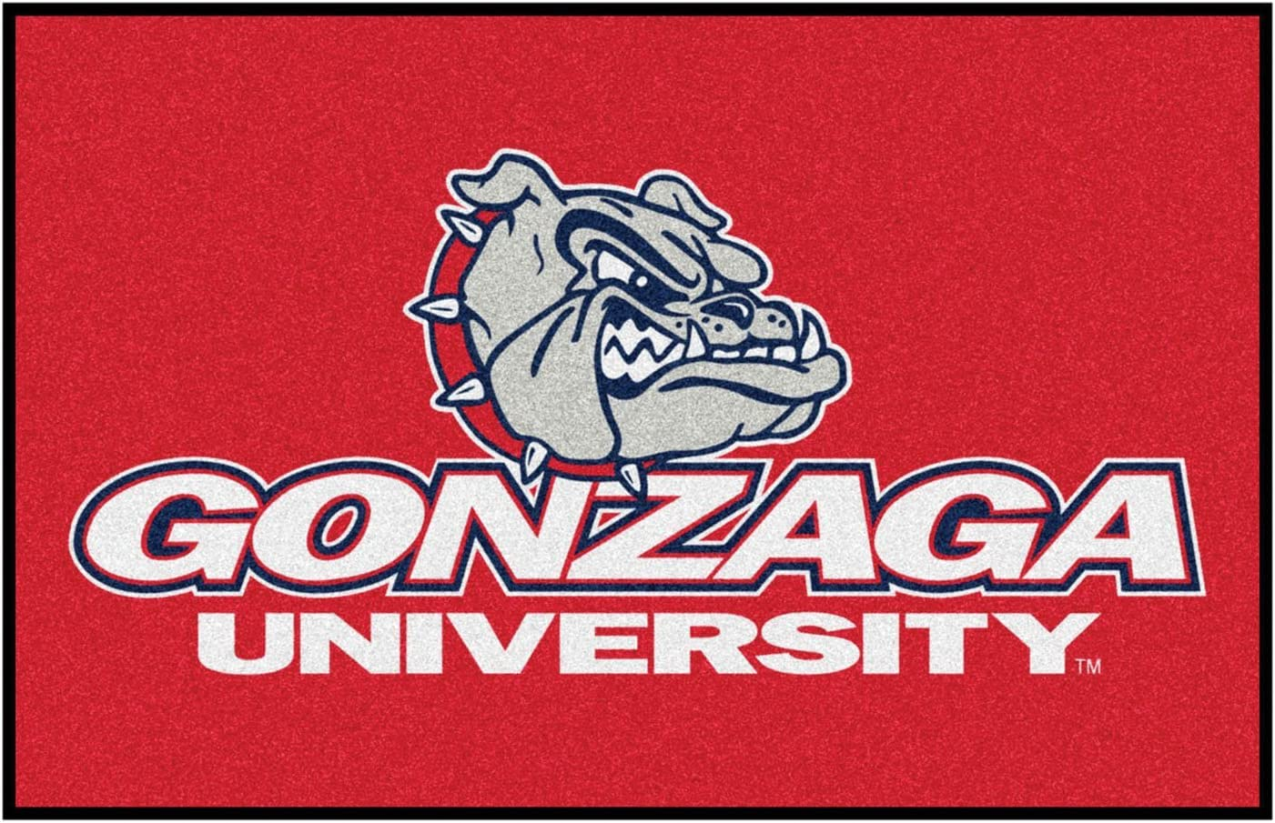 FANMATS NCAA Gonzaga University Bulldogs Nylon Face Basketball Rug