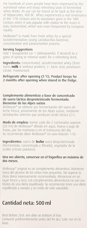 Bioforce (A. Vogel) Molkosan 500 ml - 1 Unidad: Amazon.es: Salud y ...