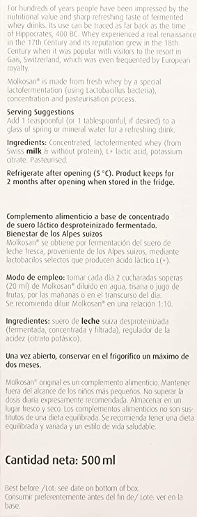 Bioforce (A. Vogel) Molkosan 500 ml - 1 Unidad: Amazon.es: Salud y ...
