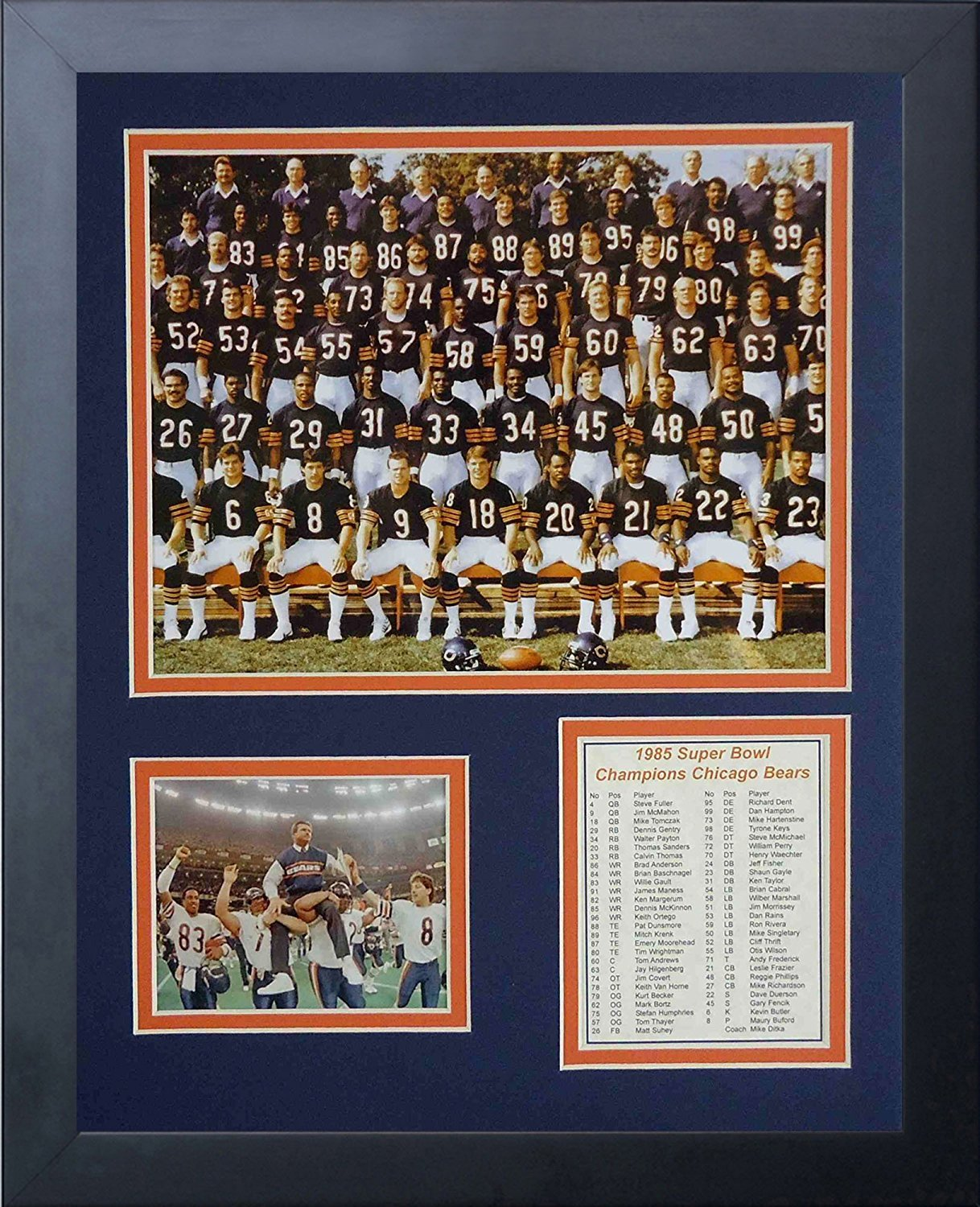 11x14-Inch Legends Never Die 1985 Chicago Bears Framed Photo Collage
