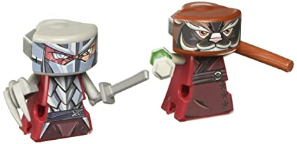 VS Rip-Spin Warriors Teenage Mutant Ninja Turtles Splinter and Shredder Figure 2-Pack