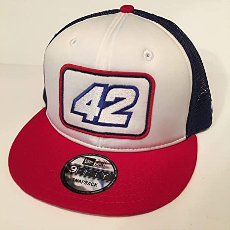 34075a86406916 2018 Kyle Larson NewEra 9Fifty Pit Crew Hat CAP Nascar Chevy Ganassi  SnapBack USA Trucker Mesh at Amazon's Sports Collectibles Store