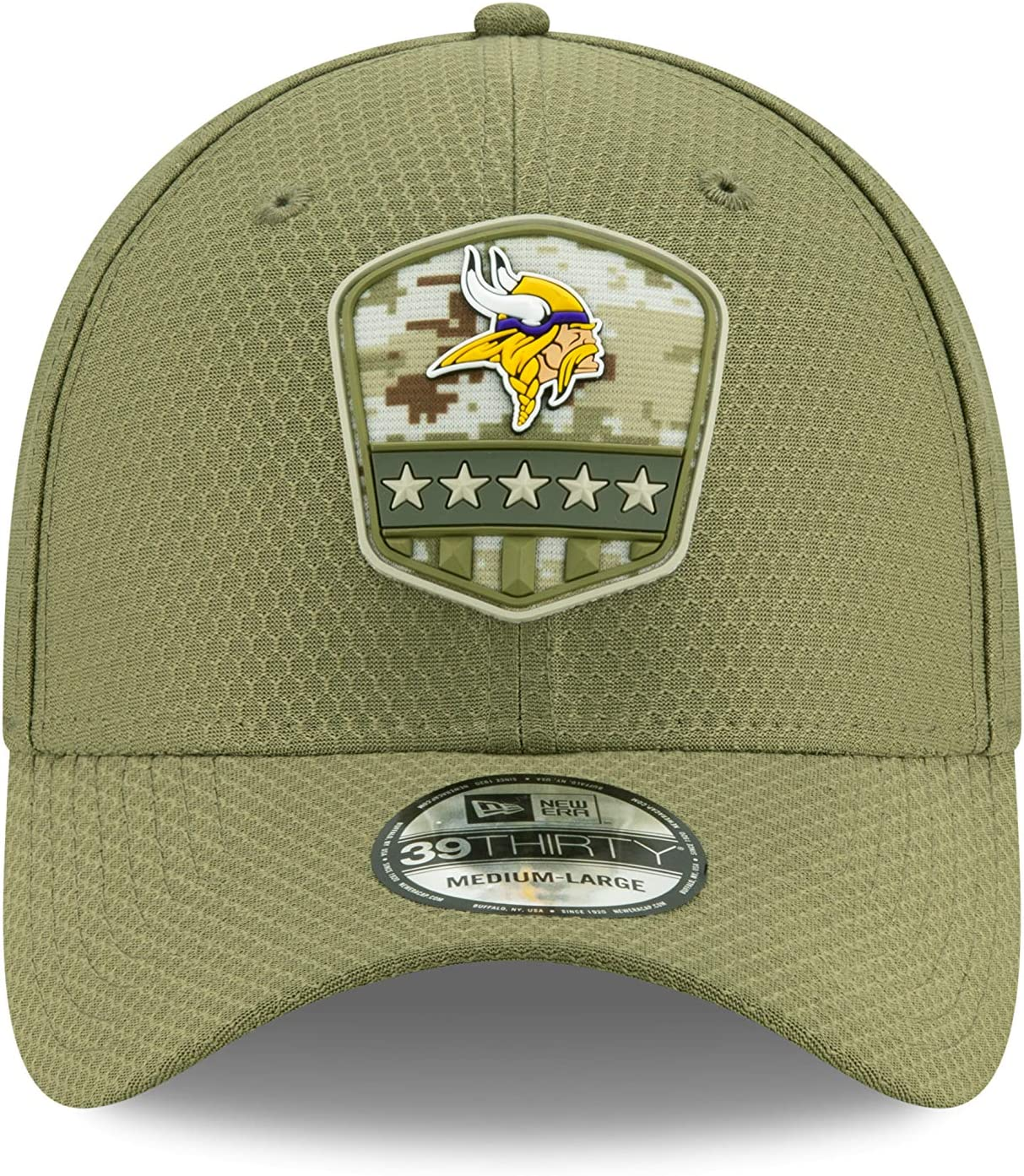 New Era Minnesota Vikings 39thirty Stretch Cap on Field 2019 Salute to Service