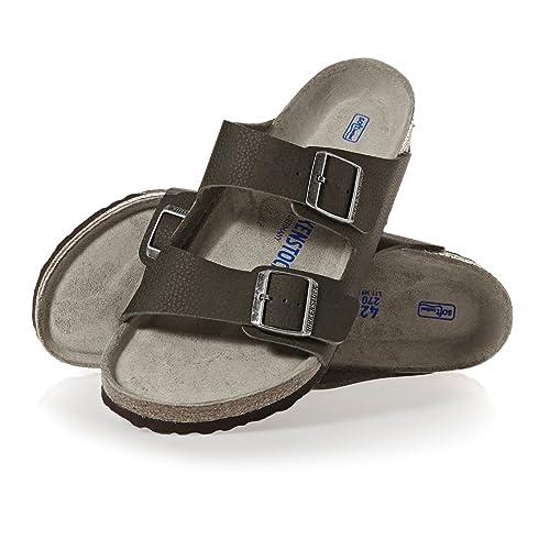 b7163c2aa1b0 Birkenstock Mens Arizona Birko-Flor Soft-Footbed Sandals Regular Dessert  Soil Green Size EU
