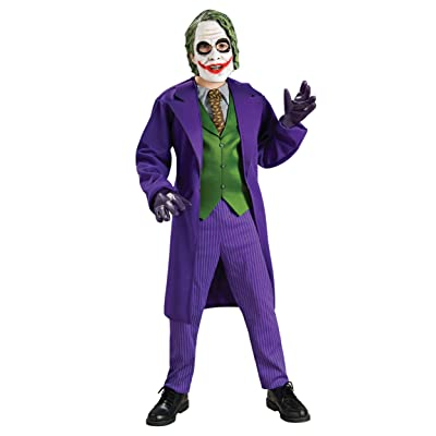Rubie's Deluxe Child Joker Costume X-Large Purple: Clothing