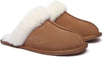 UGG Slippers Wool Rosa Australian Premium Soft Sheepskin Wool Winter Home Cozy Slipper Shoes for Women Men