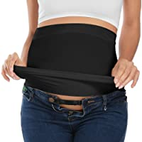 Bamboo Belly Band For Pregnancy with 2 PC of Waist Extenders for All Stages of Pregnancy Postpartum