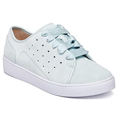 Vionic Women's Splendid Keke Lace-up Sneakers - Ladies Walking Shoes Concealed Orthotic Arch Support | Fashion Sneakers