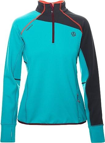 Ternua ® Adilet 1/2 Zip W Camiseta, Mujer, Verde (Jade), XL ...