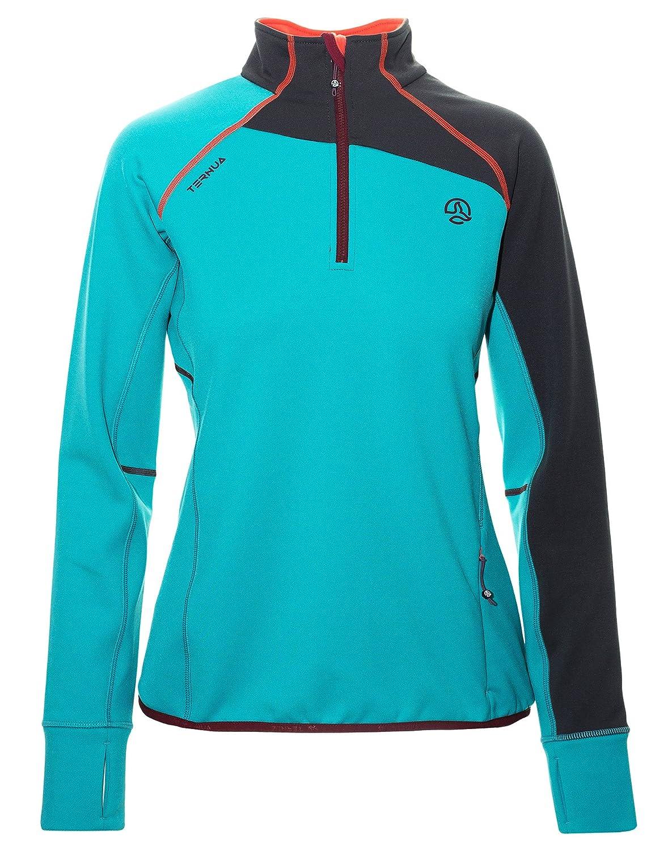 Ternua ® Adilet 1/2 Zip W Camiseta, Mujer, Verde (Jade), XL Impor Arrasate 12065595590_XL