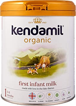 (6x800g) Kendamil Leche de Iniciación Orgánica - Fórmula de leche entera orgánica hecha en el Reino Unido - Sin aceite de palma, sin aceite de ...
