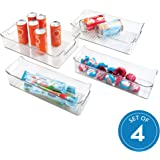 iDesign Kitchen, Pantry, Refrigerator, Freezer Storage Containers - Set of 4, Clear