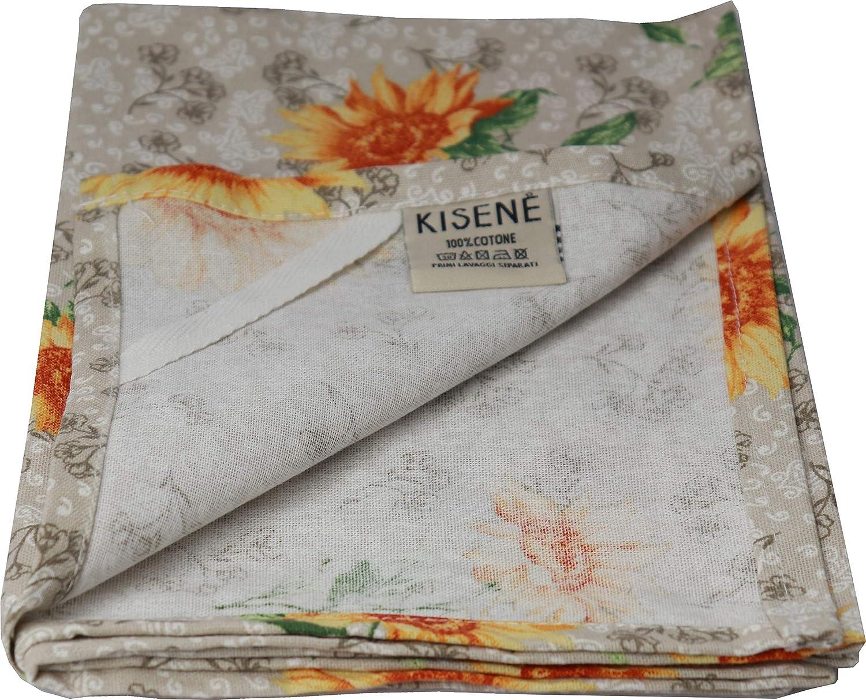 Beige, Disegno Love KISENE Guanto da Forno Presine e Strofinaccio 100/% Cotone Set Cucina 4 Pezzi