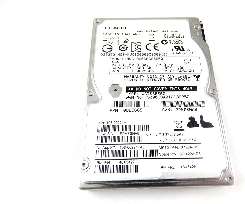 "NetApp Hitachi X421A-R5 108-00220+A0 450GB 10K SAS HDD 2.5/"" DS2246"
