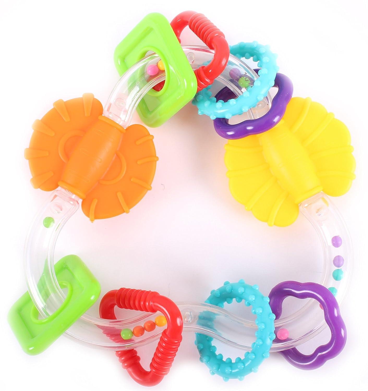 激安単価で Scholastic Scholastic Baby Teether Infant Triangle Teether One Rattle Toy With Spinning Flippers Multicolored Triangle Baby Toy One Size by Scholastic B01FOU81Z6, 【中古】:92bfc6c0 --- a0267596.xsph.ru