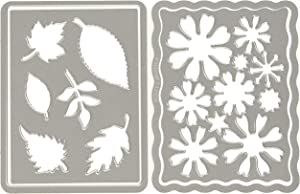 Sizzix Thinlits Die Set 4PK - Flowers and Leaves Journaling Cards by Eileen Hull