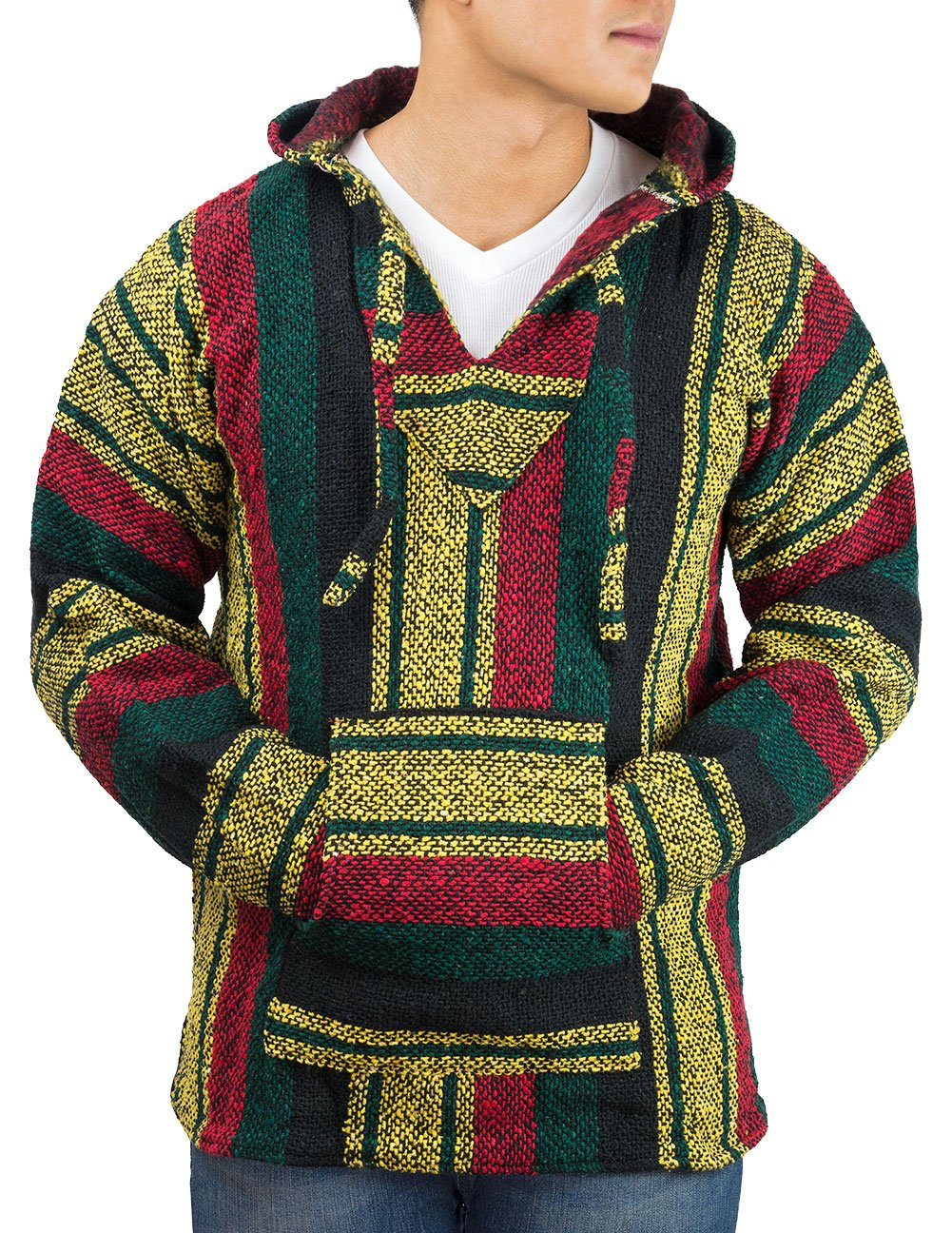 Unisex Jerga/Baja Large Red, Green & Yellow by Clever Pro B00MOUXU3I