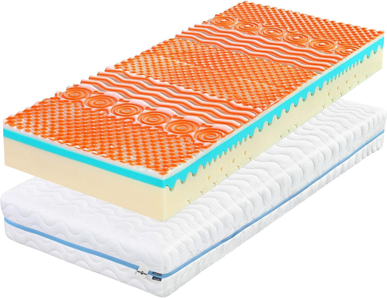 Matt Jefe Cinco Estrellas 3D colchón | 7 Zonas, 90 x 200 x 18 cm colchón de Espuma para Cama Individual, con la Cubierta Lavable | encolada para Cada Cama, de no conexión, ortopédica