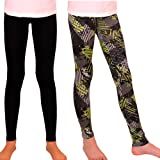 Syleia Girl Leggings High Rise 2 Pairs Grey&Green