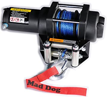 Mad Dog 3500lb Winch Mount Combo w//Synthetic Rope Can-Am Renegade 12-18 500 570 800 850 1000 G2