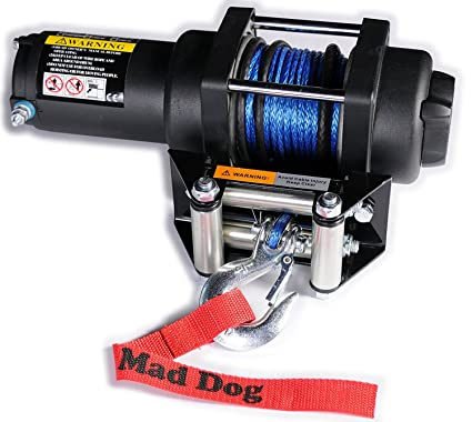 wiring amazon com: mad dog 3500lb winch mount combo w/synthetic rope  can-