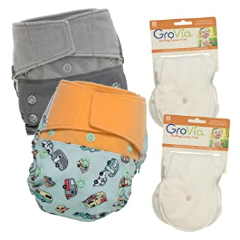 Image: GroVia Hybrid Snap Shell Diaper   Waterproof TPU outer layer   perfect solution to on-the-go parenthood   travel-friendly and great for daycare
