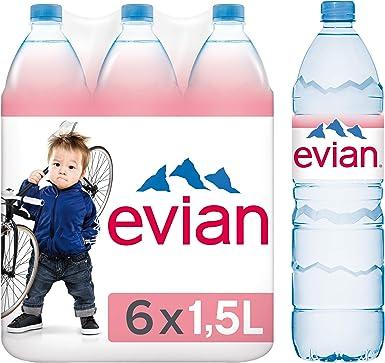Evian 1,5L (pack de 6): Amazon.es: Alimentación y bebidas
