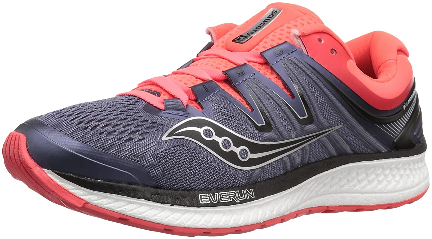 Saucony Women's Hurricane Iso 4 Running Shoe B072JTVND4 10.5 B(M) US|Grey/Black/Vizi Red