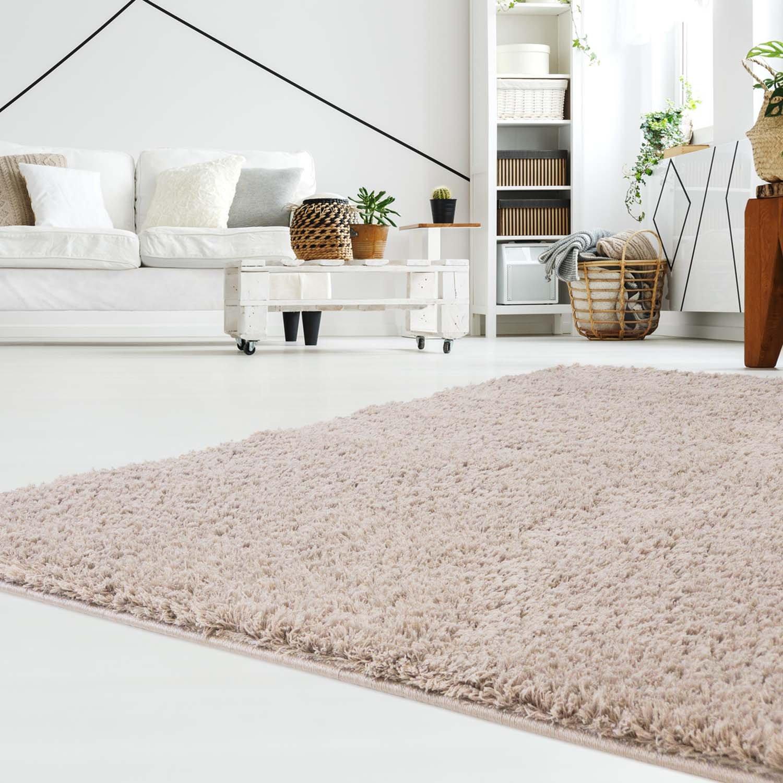 Carpet Carpet Carpet city Teppich Hochflor Langflor Shaggy aus Micro-Polyester Einfarbig Uni in Grau für Wohn- oder Schlafzimmer, Größe  240 x 340 cm 7422e1