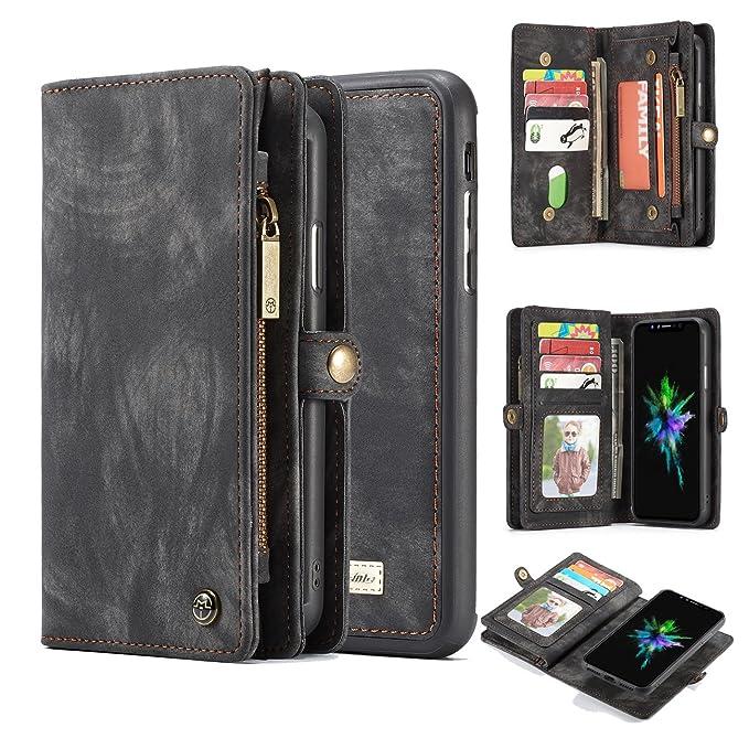Amazon.com: AKHVRS - Funda tipo cartera para iPhone X/Xs ...