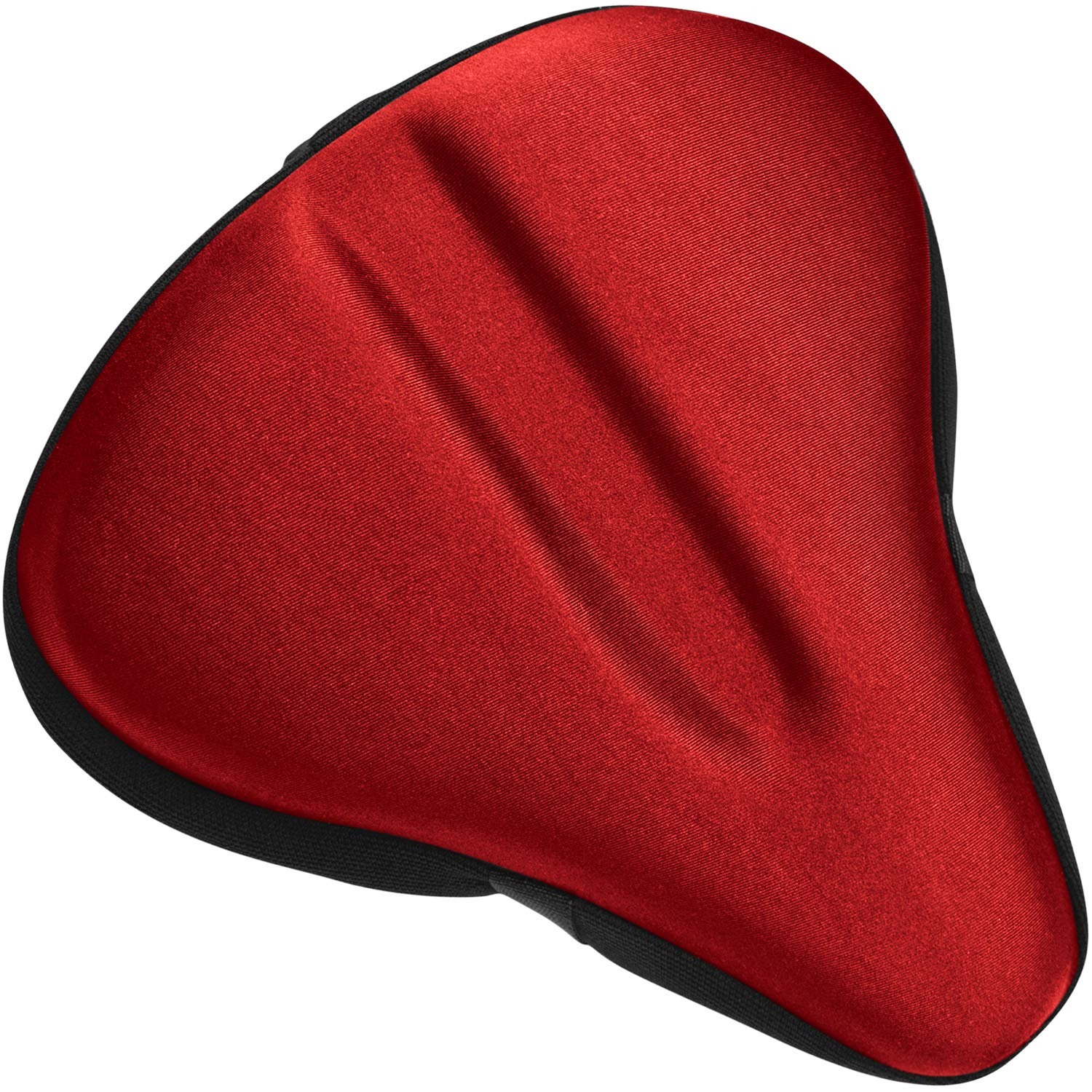 Bikeroo Large Exercise Bike Seat Cushion - Bicycle Wide Gel Soft Pad - Most Comfortable Bicycle Saddle Cover for Women and Men Bike seat Gel Cover fits Cruiser and Stationary Bikes, Indoor Cycling