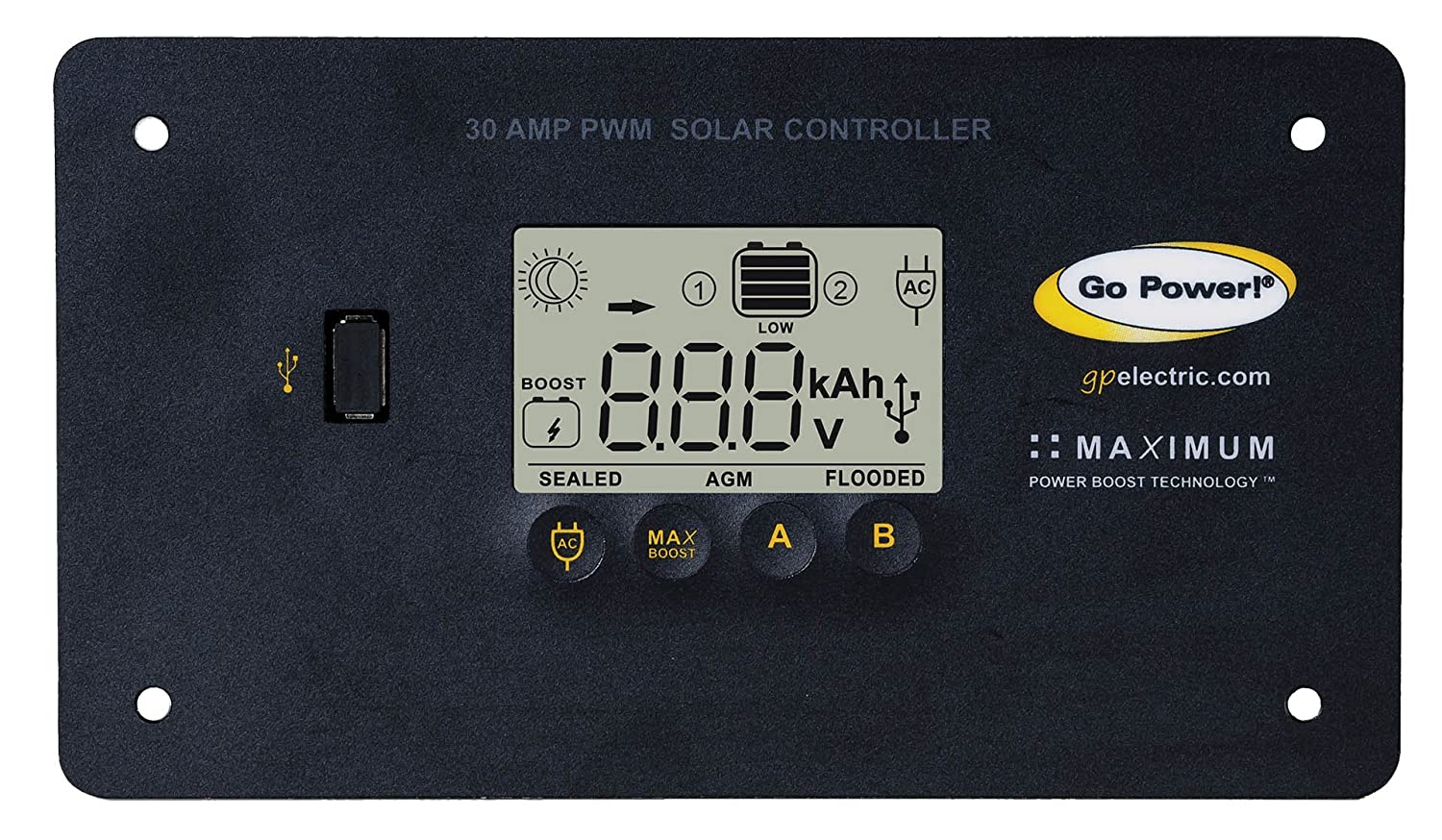 Go Power Weekender SW Complete Solar and Inverter System with 160 Watts of Solar