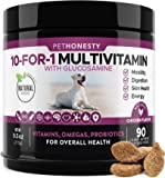 10 in 1 Dog Multivitamin with Glucosamine - Essential Dog Vitamins with Glucosamine Chondroitin, Probiotics and Omega…