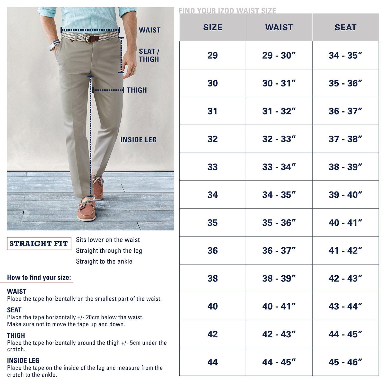 Izod Mens American Chino Flat-Front Pant