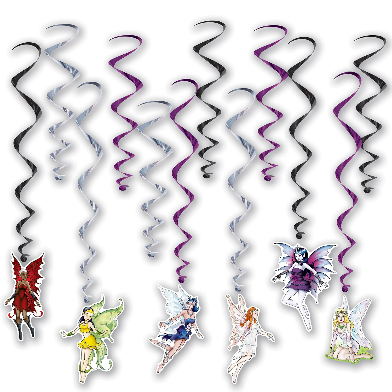Beistle Fairy Whirls | Fairy Princess Party Decorations (3-Pack)