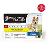 Direct Protect Plus Flea & Tick Topical Treatment for Dogs, Waterproof & Fast Acting, 3 Month Supply
