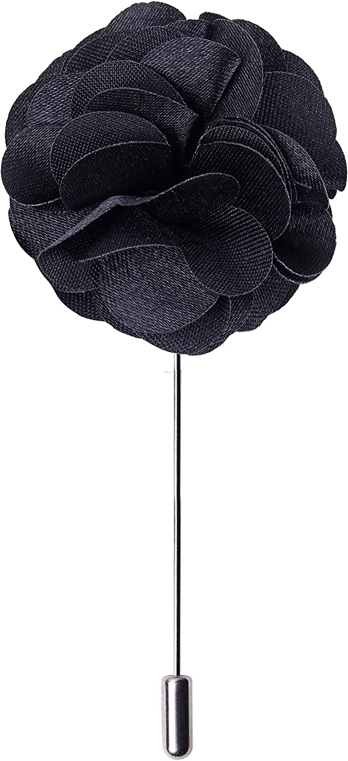 Peluche Ornamental Treat - Black Colored Brooch/Lapel Pin for Men