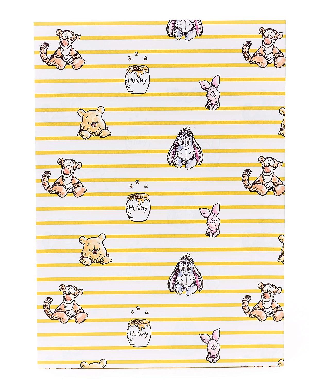 2 feuilles de papier cadeau Winnie lourson 2 /étiquettes cadeaux