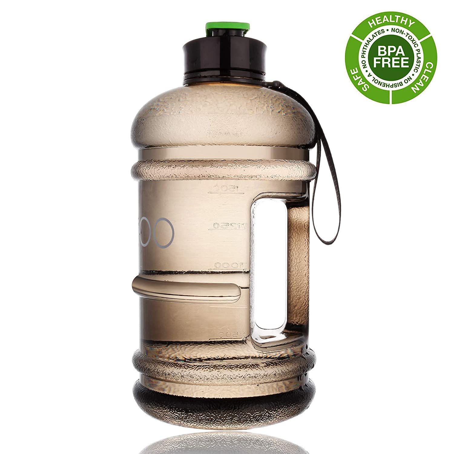 Half Gallon Water Bottle Dishwasher Safe US Eastman Tritan BPA Free Reusable Drinking Gym Water Bottle for Sports Travel Camping Hiking Hydrate Large Water Jug with Spout