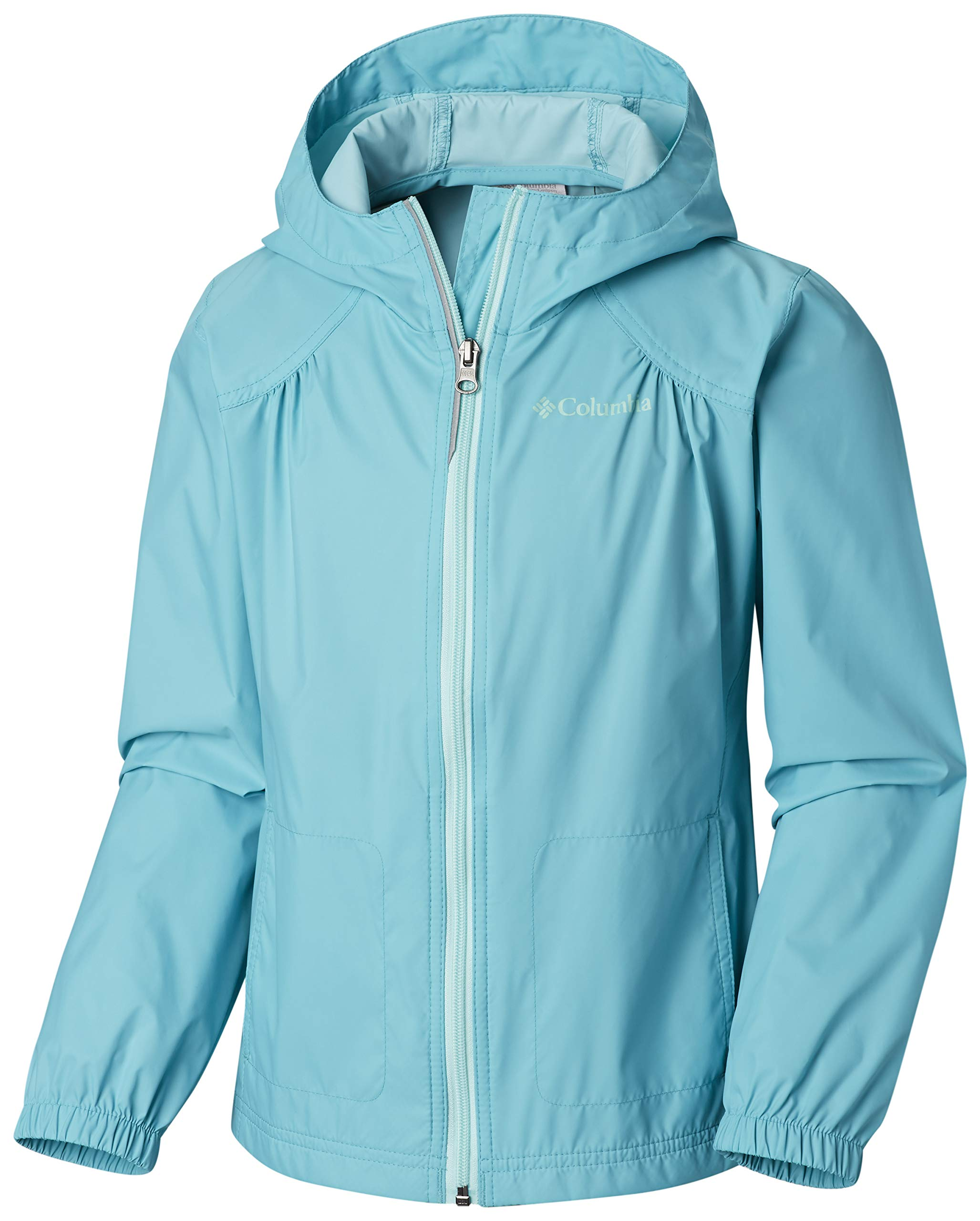 Columbia Girls' Big Switchback Rain Jacket, Geyser, X-Large