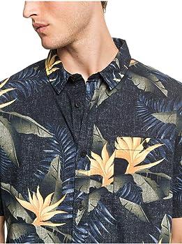 Quiksilver - Camisa de Manga Corta - Hombre - S - Negro: Amazon.es: Ropa y accesorios